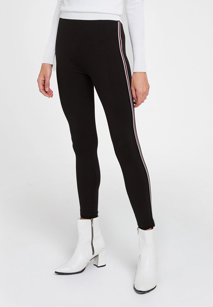 Leggings with Colorful Line Details
