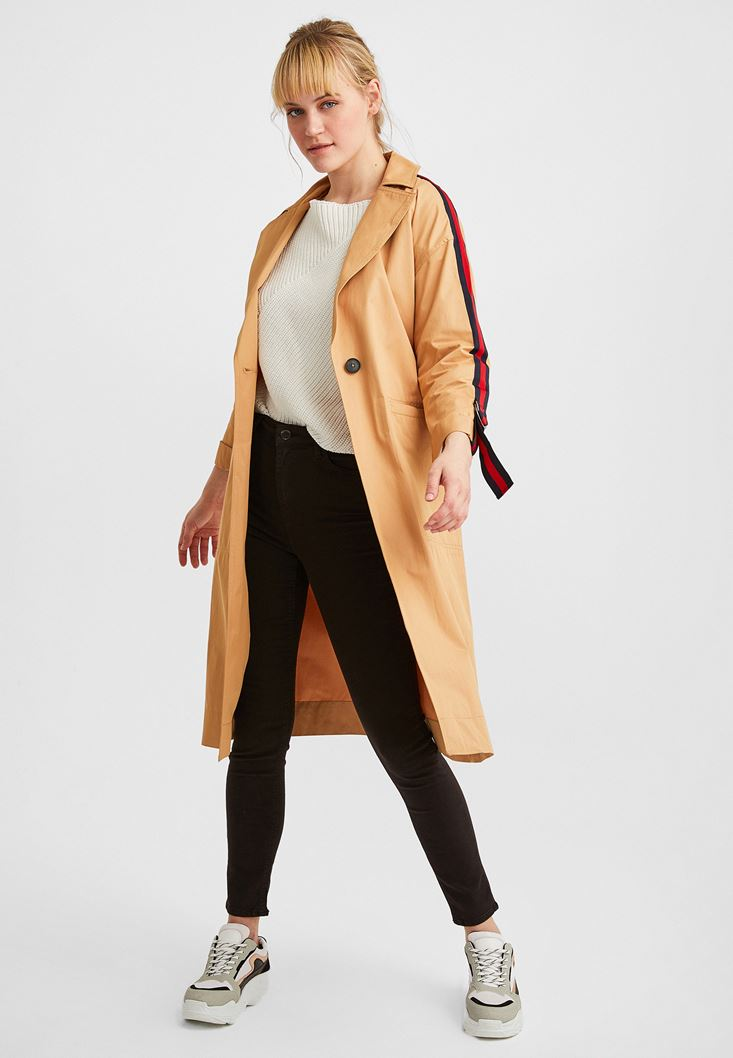 Brown Trenchcoat with Stripe