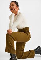 Bayan Yeşil Beli Bağlama Detaylı Bol Pantolon