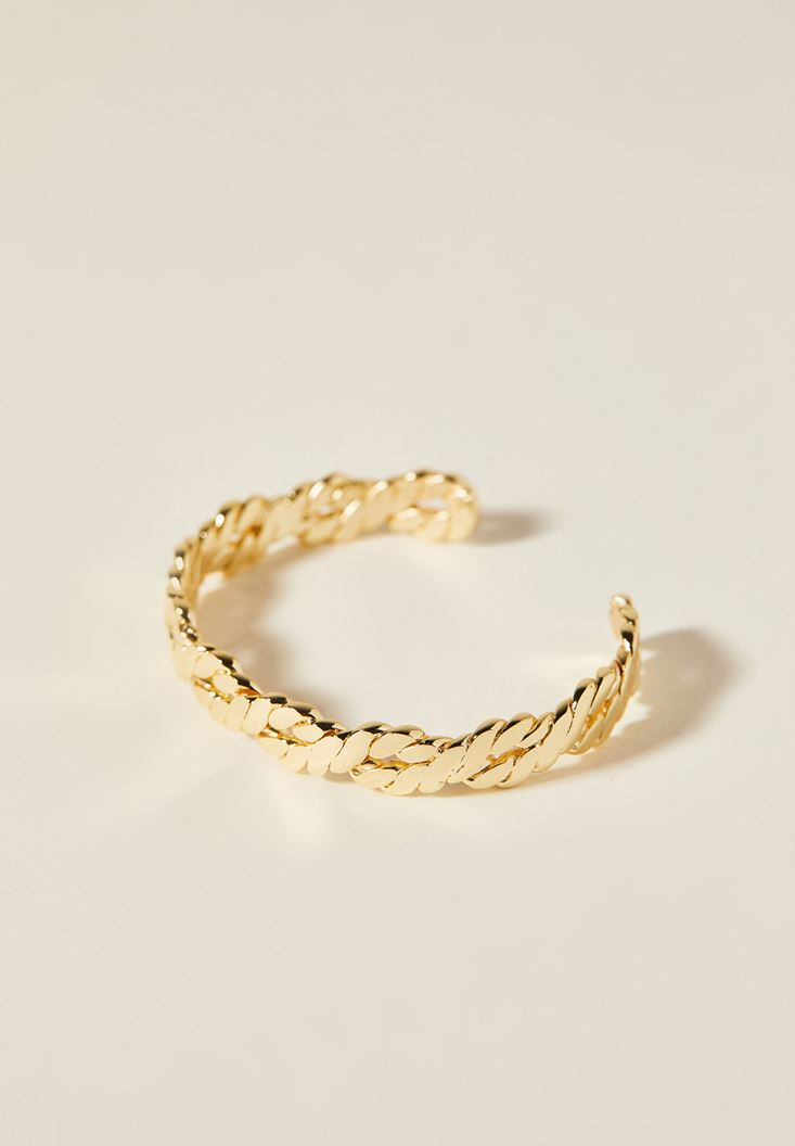 Mixed Gold Bracelet with Detail