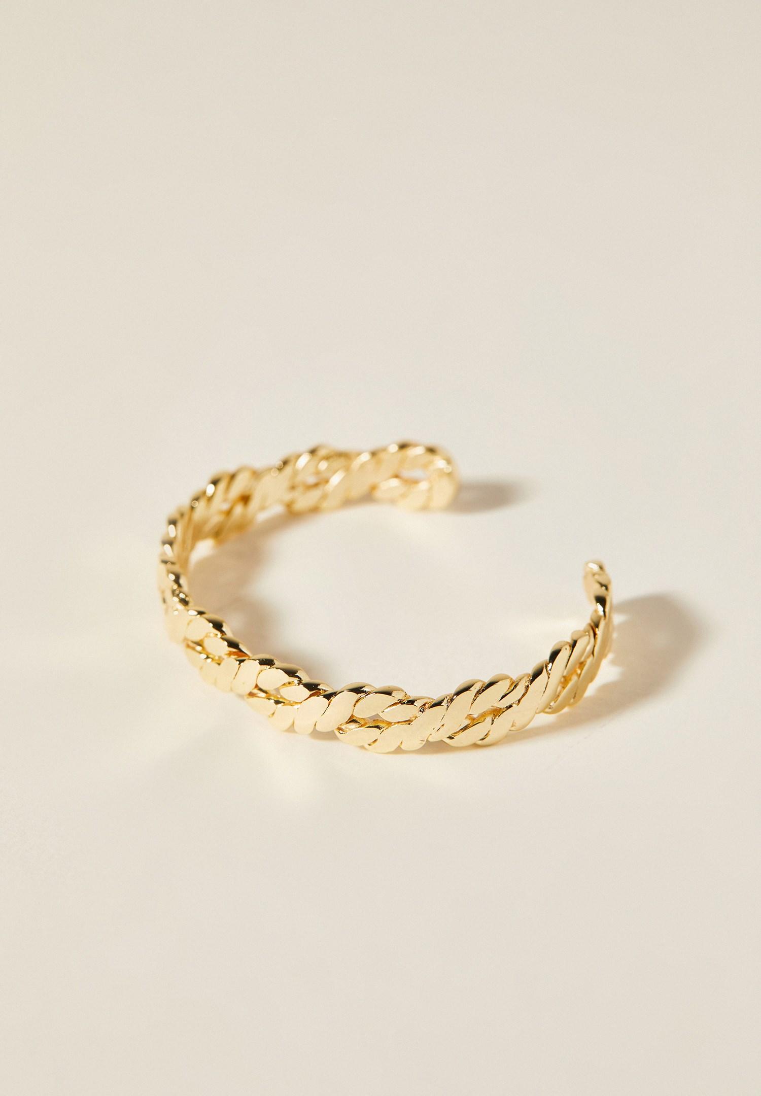 Bayan Çok Renkli Gold Detaylı Bileklik