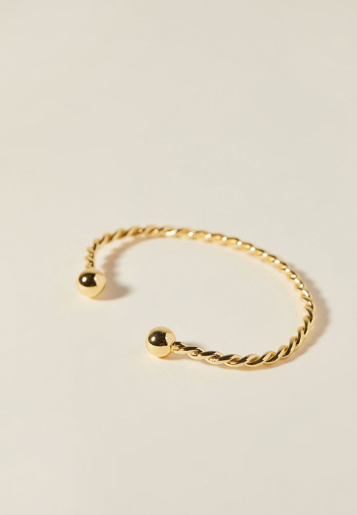 Mixed Twisted Gold Bracelet