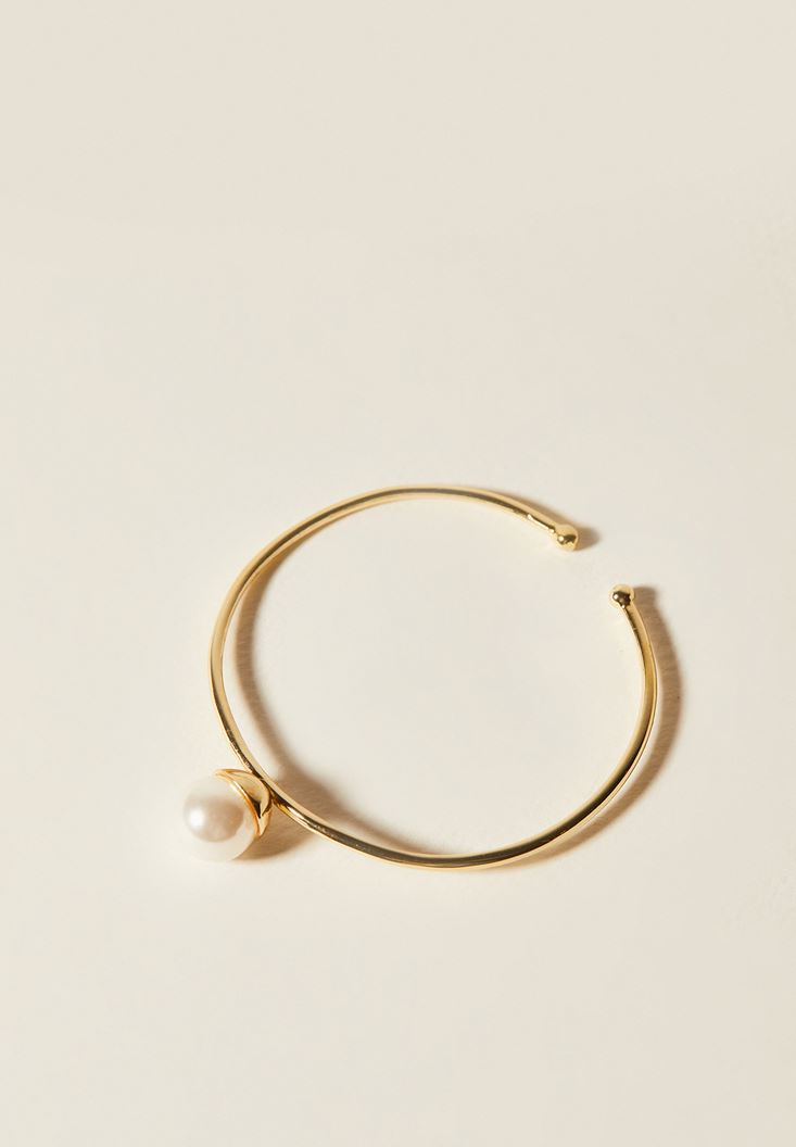Mixed Gold Bracelet with Pearl