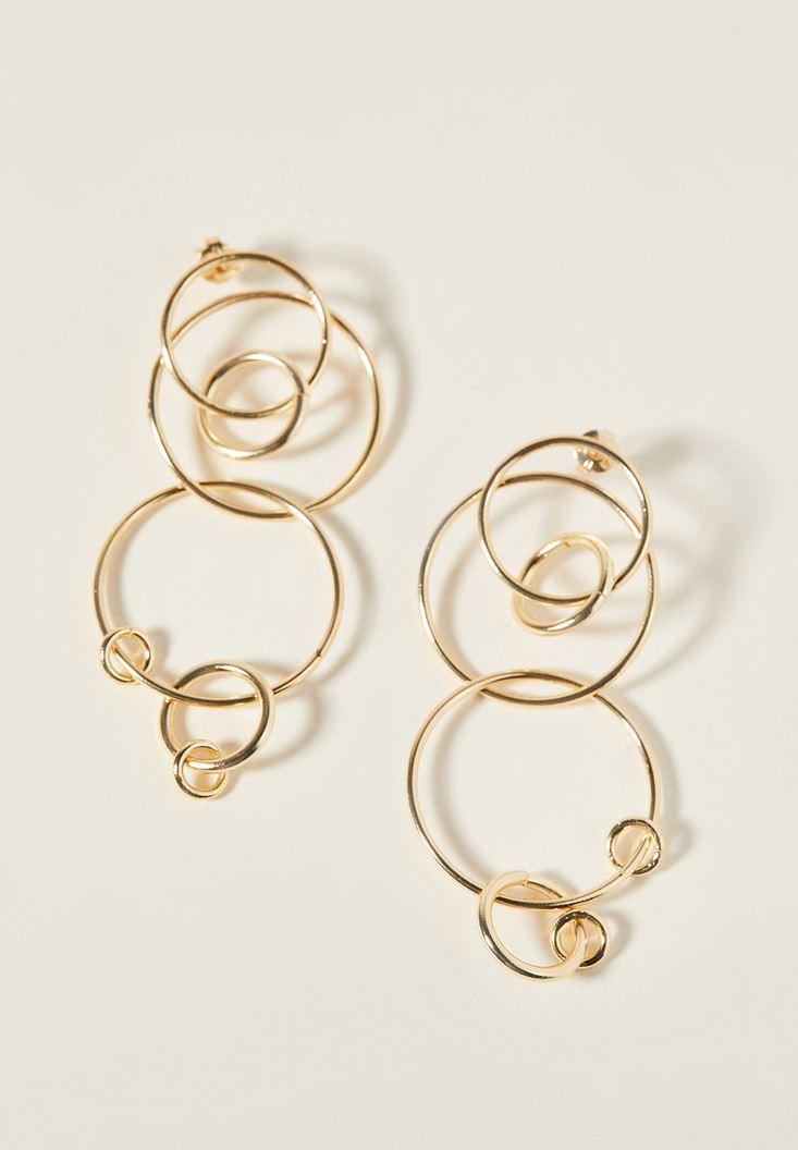 Interwined Gold Earrings