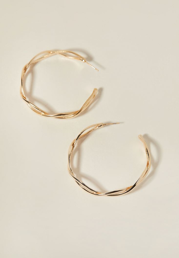 Mixed Gold Spiral Earrings with Detail