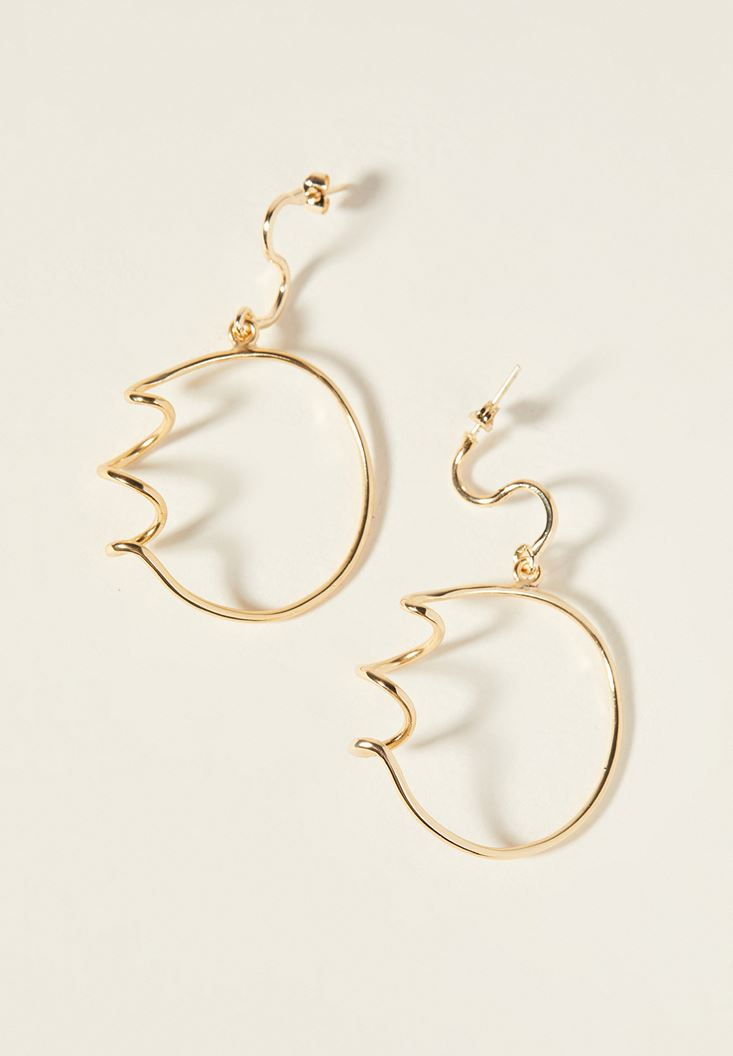 Mixed Gold Spiral Earrings with Details