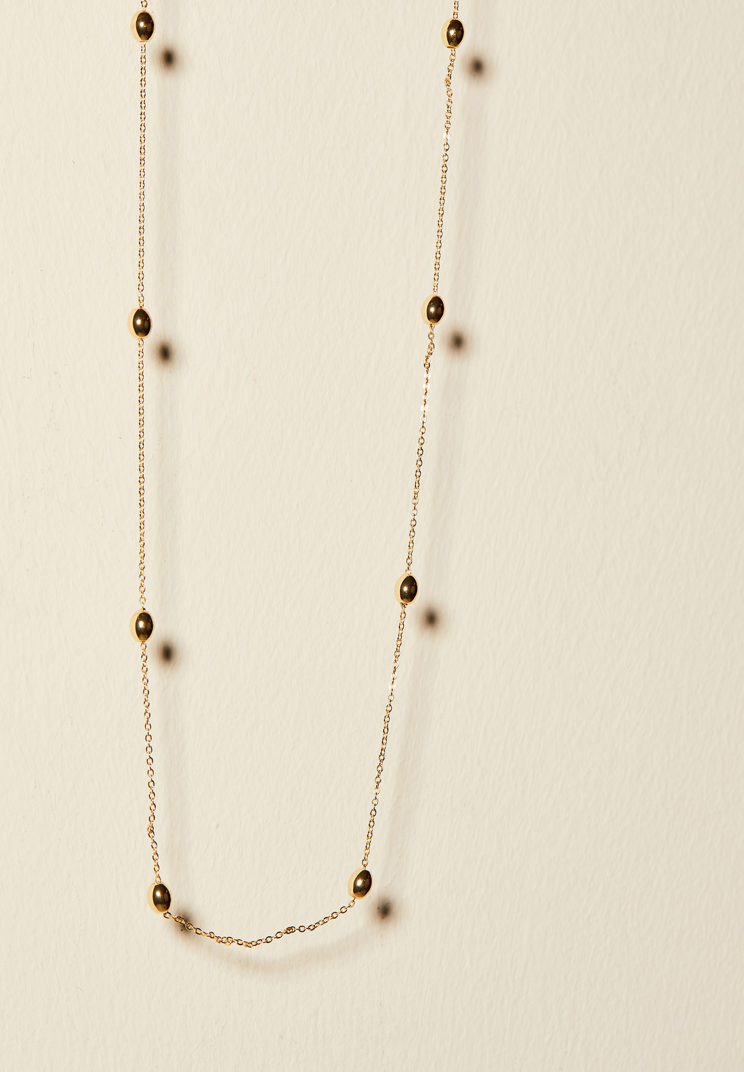 Women Mixed Chain Necklace with Bead Details