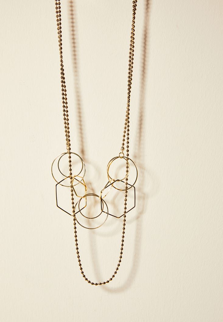 Mixed Geometric Necklace