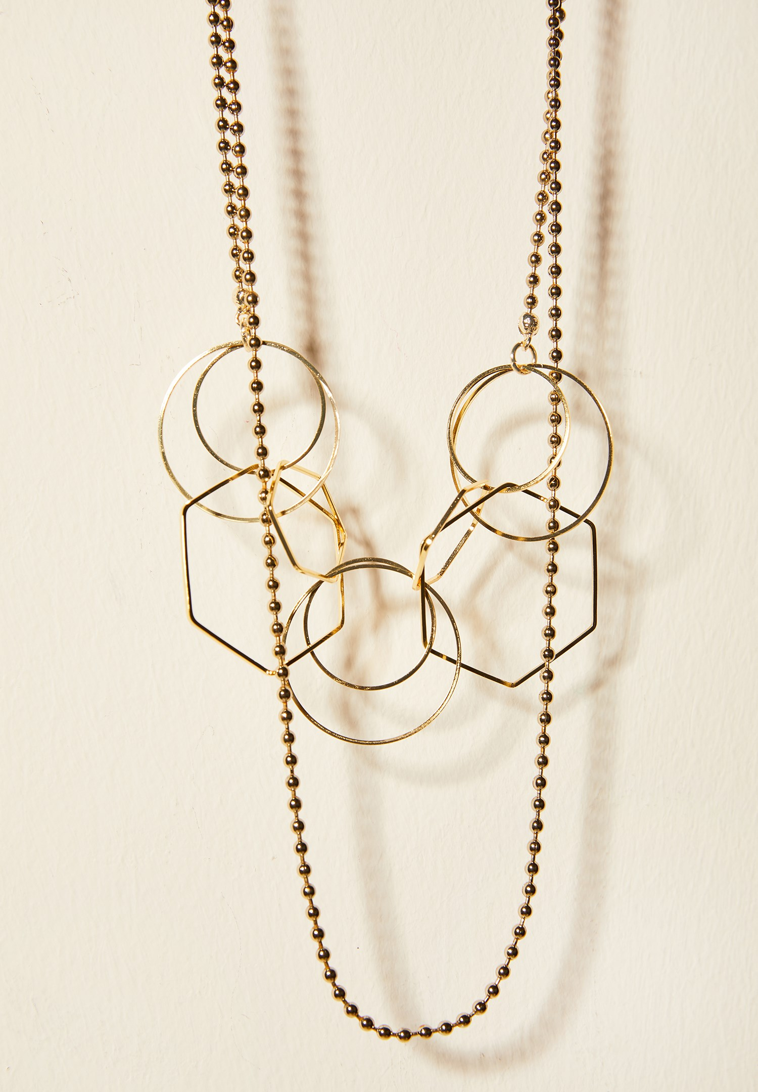 Women Mixed Geometric Necklace
