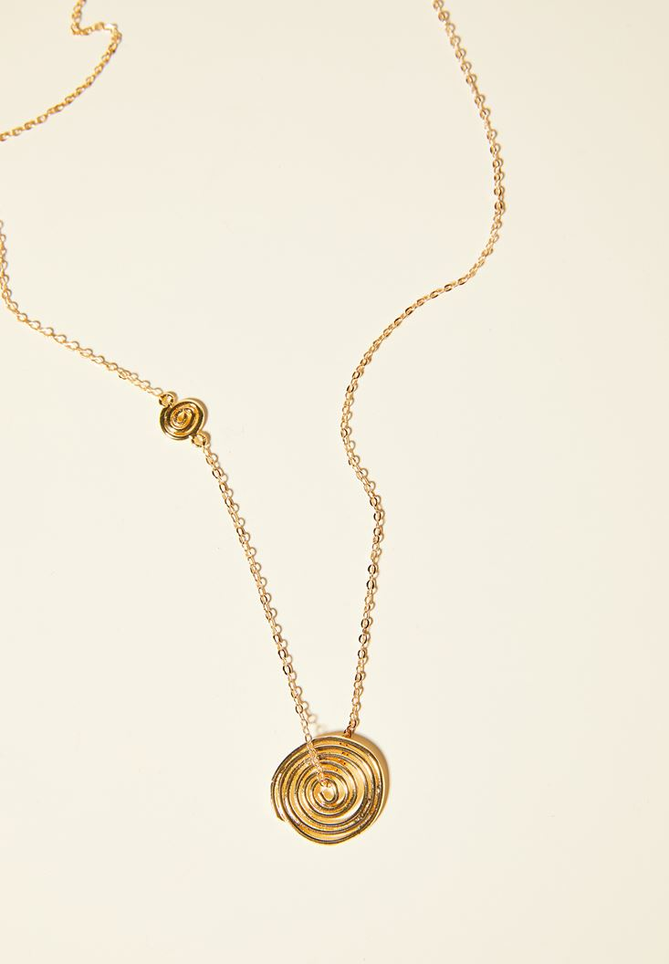 Mixed Gold Necklace with Tag