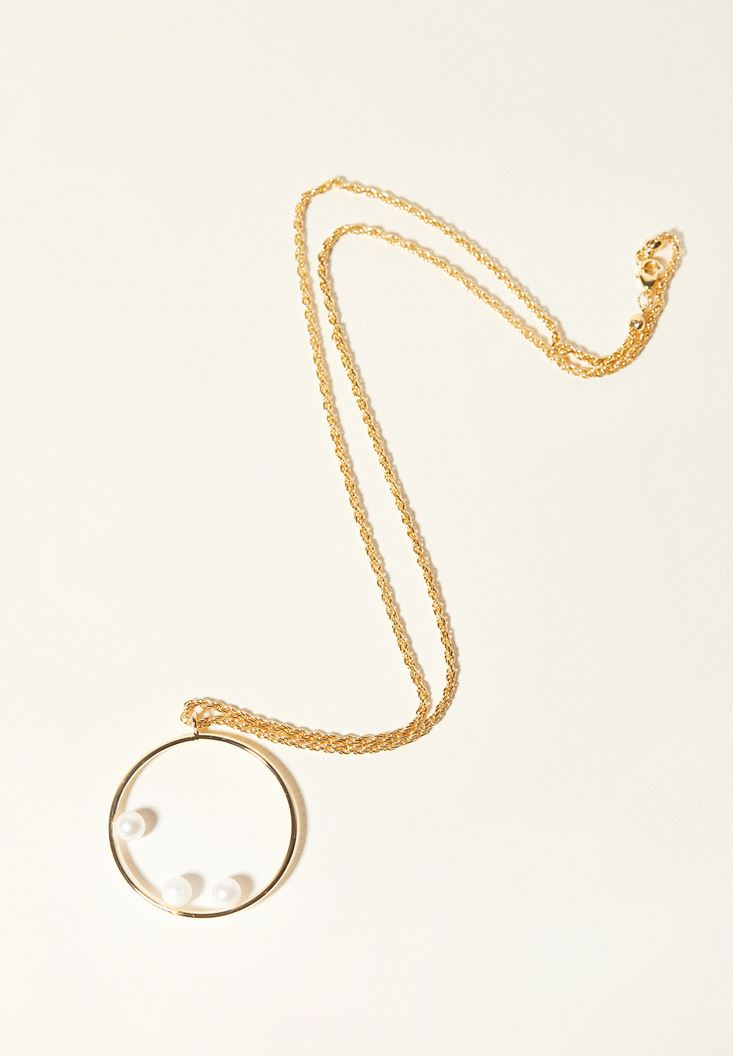 Mixed Gold Circle Necklace
