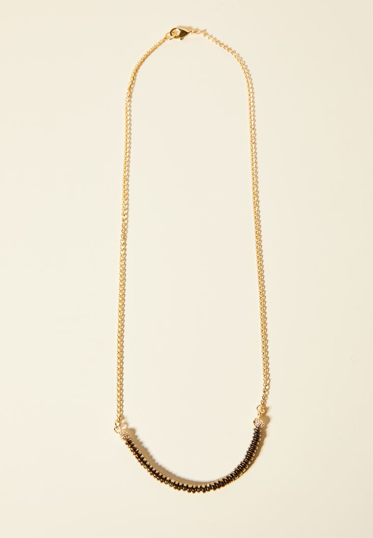 Mixed Gold Necklace with Detail