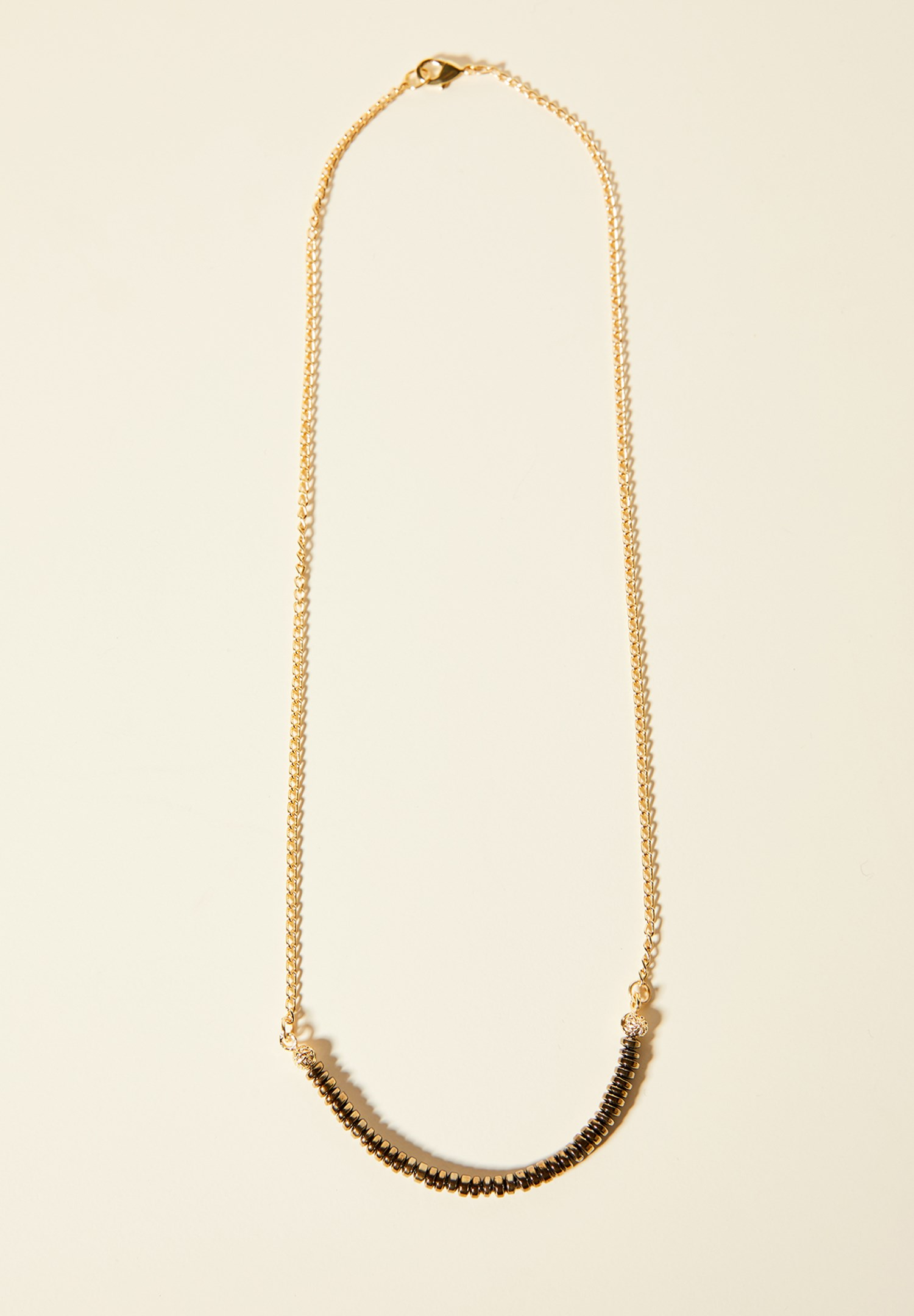 Women Mixed Gold Necklace with Detail