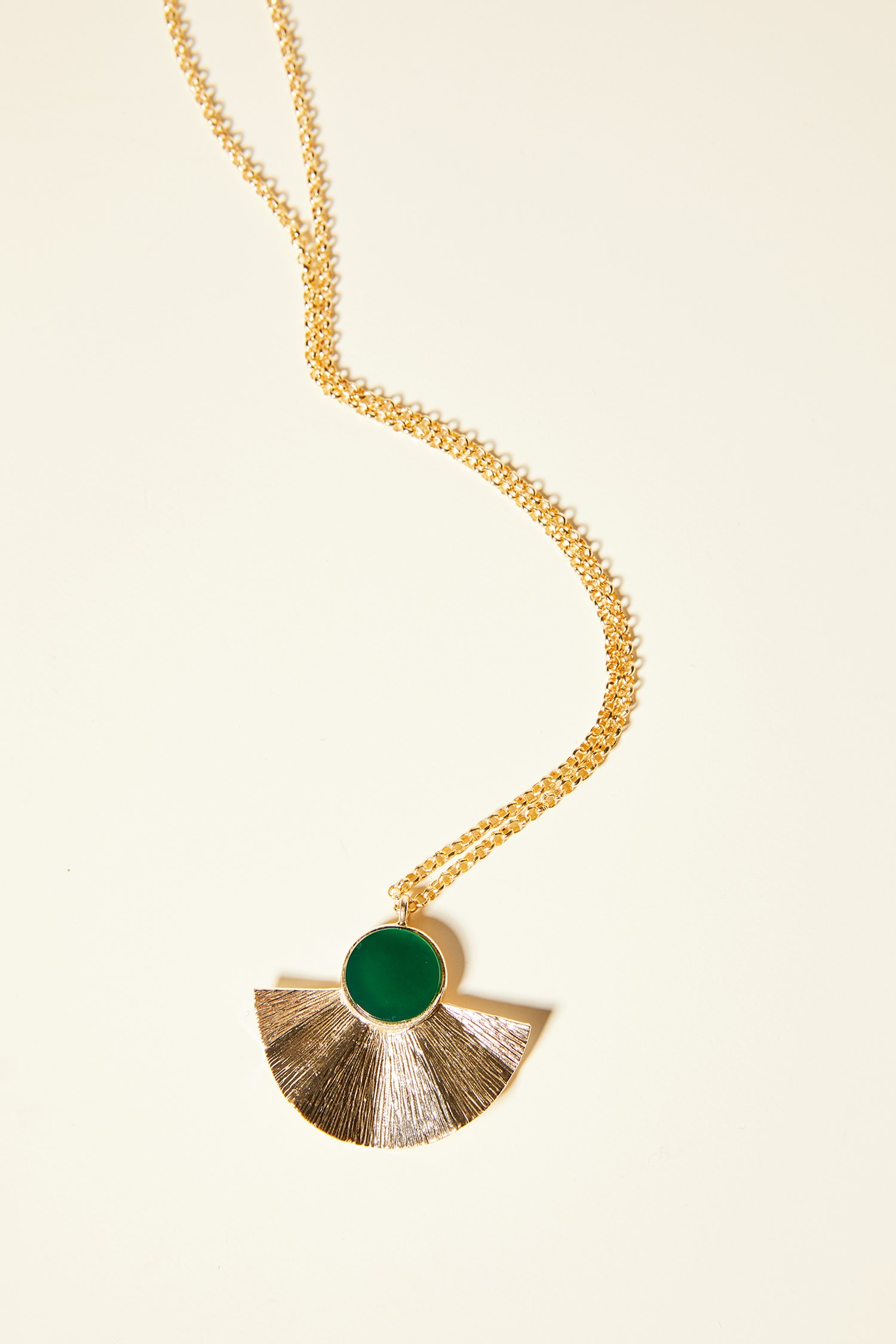 Women Mixed Long Necklace with Rock Detail