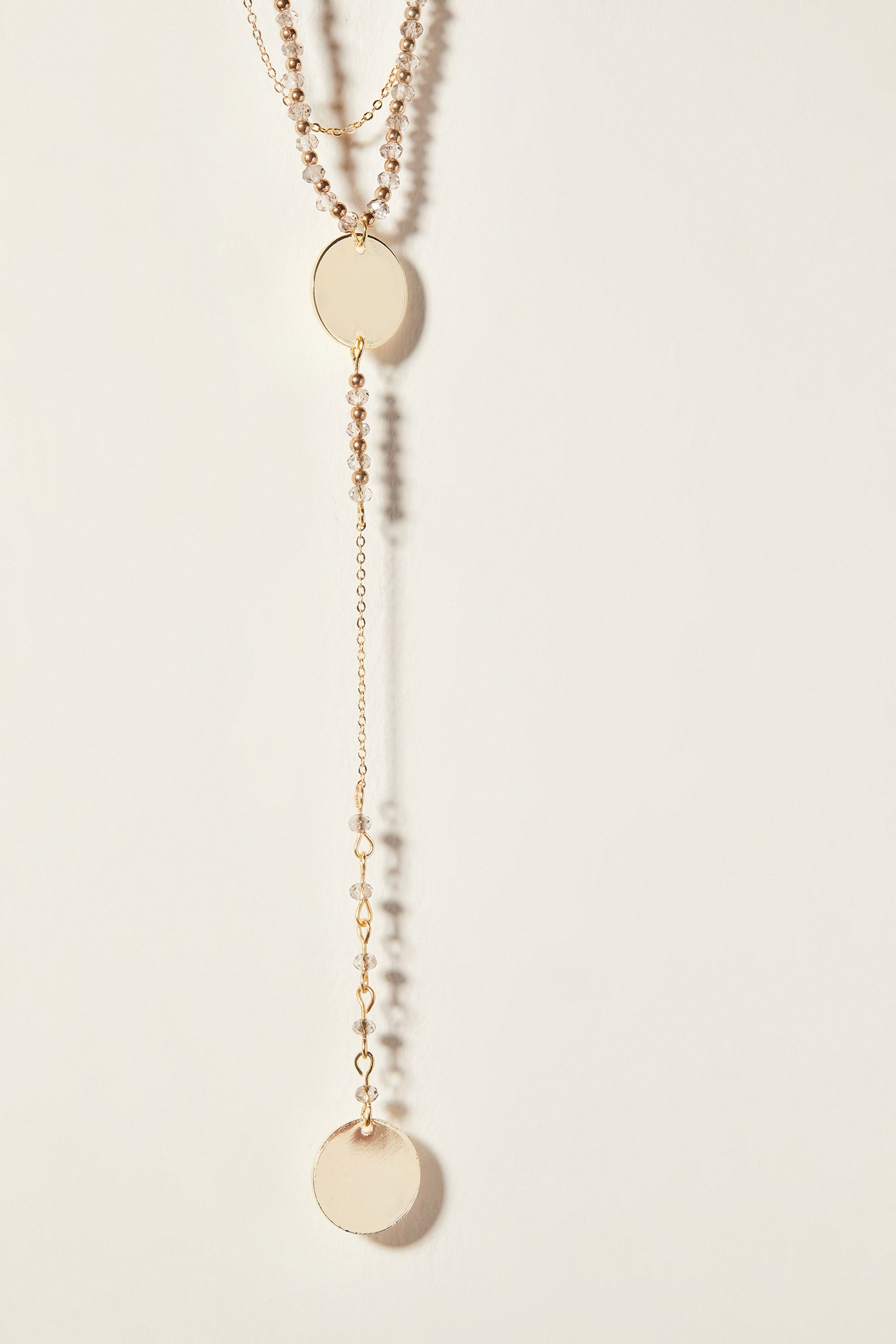 Women Mixed Multiple Medallion Necklace