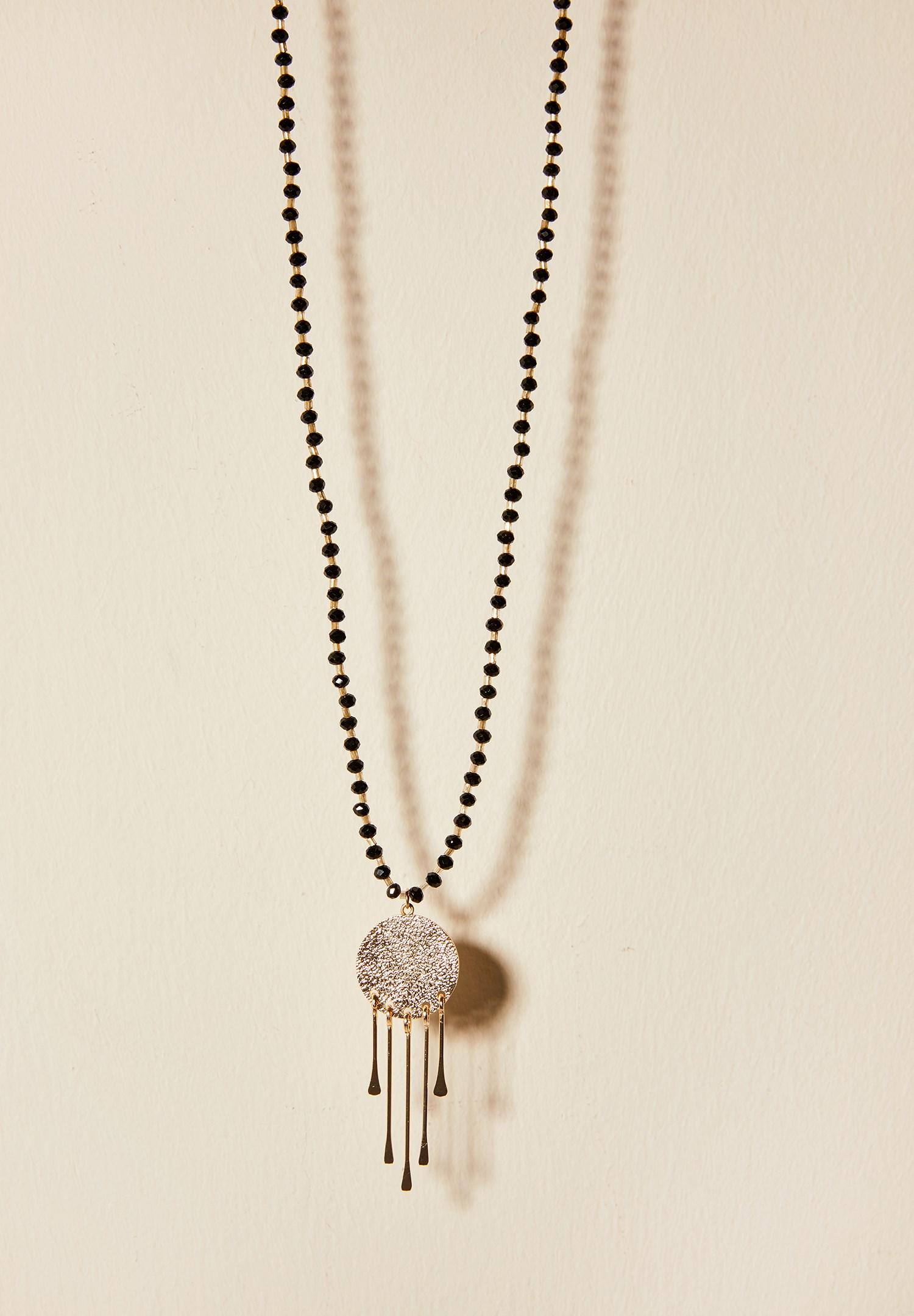 Women Mixed Stone Bead Nacklace