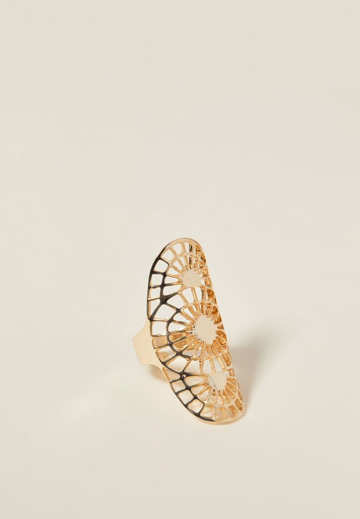 Mixed Gold Ring with Detail