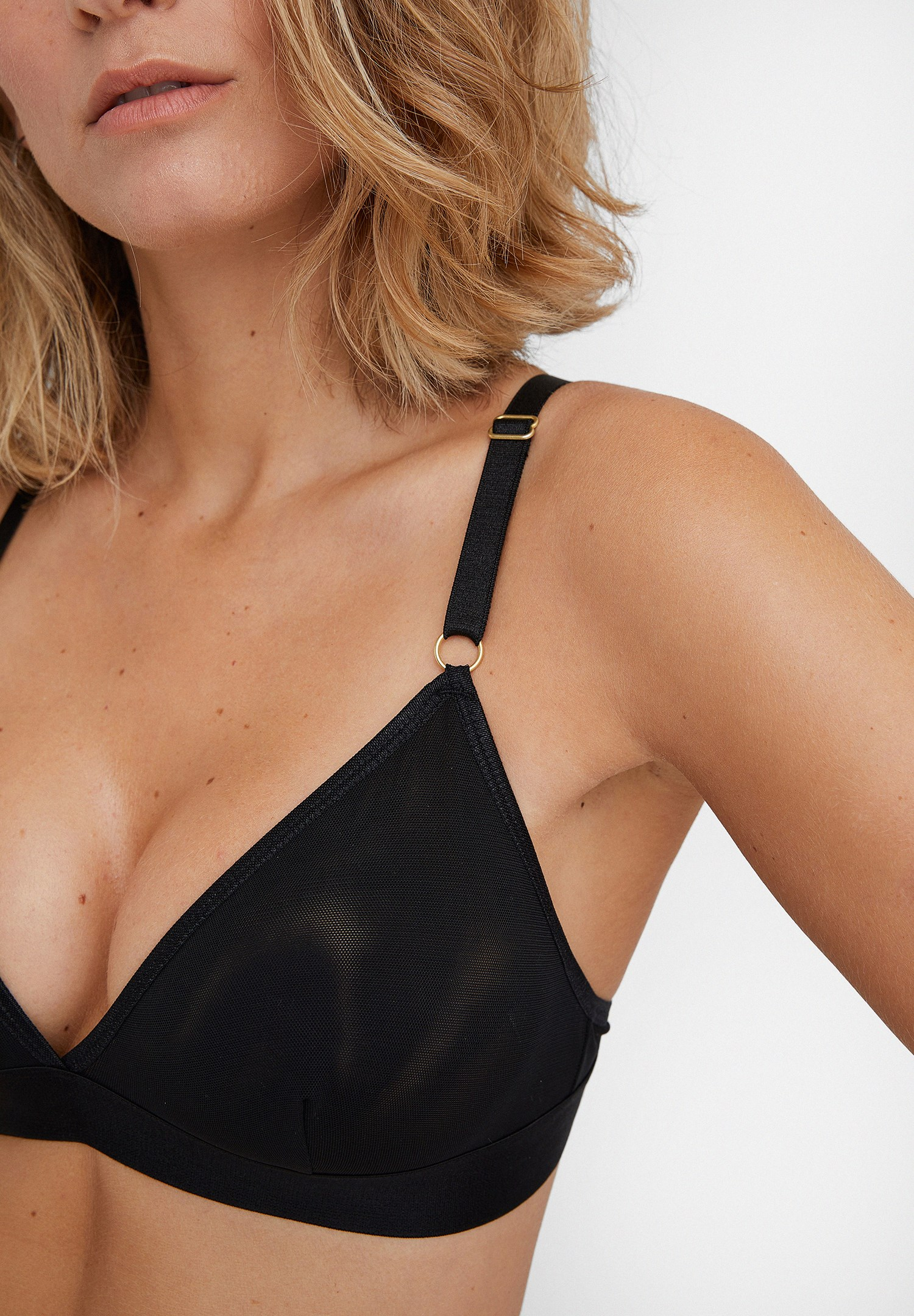 Women Black Bustier with Back Detail