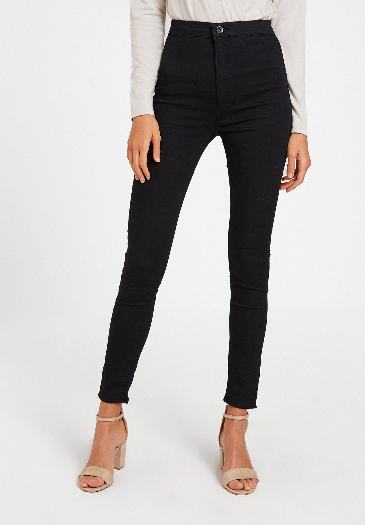 Women Black Ultra High Rise Denim