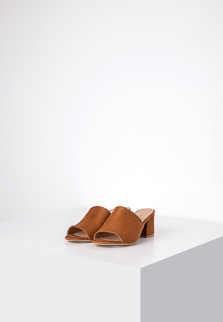 Brown Sandals with Wide Vamp