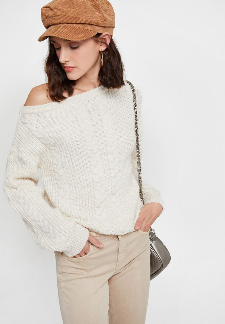 Cream Braided Knitwear