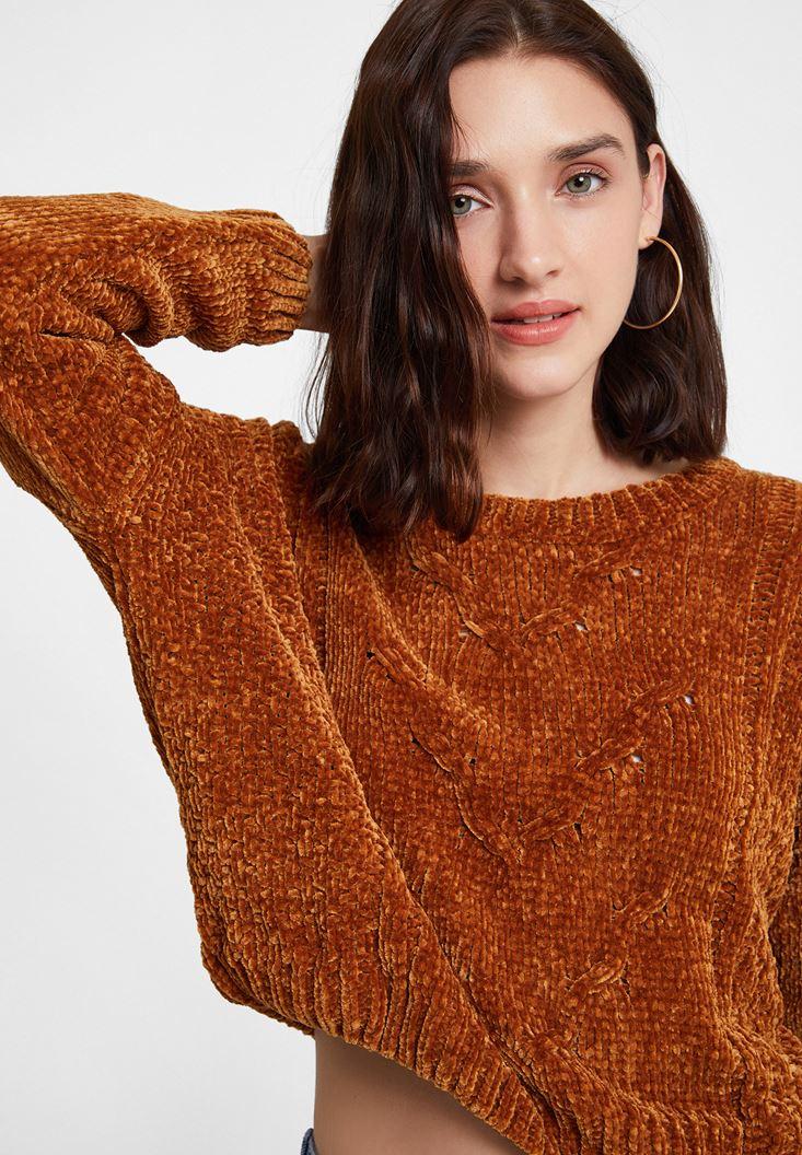 Brown Chenille Knitwear