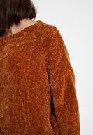 Women Brown Chenille Knitwear