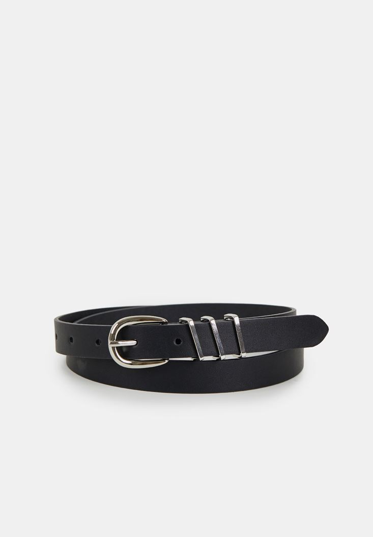 Black Belt with Buckle Detail