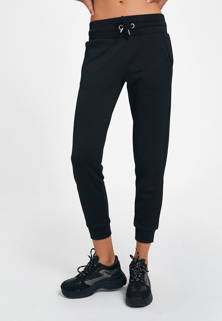 Black Jogger with Detail