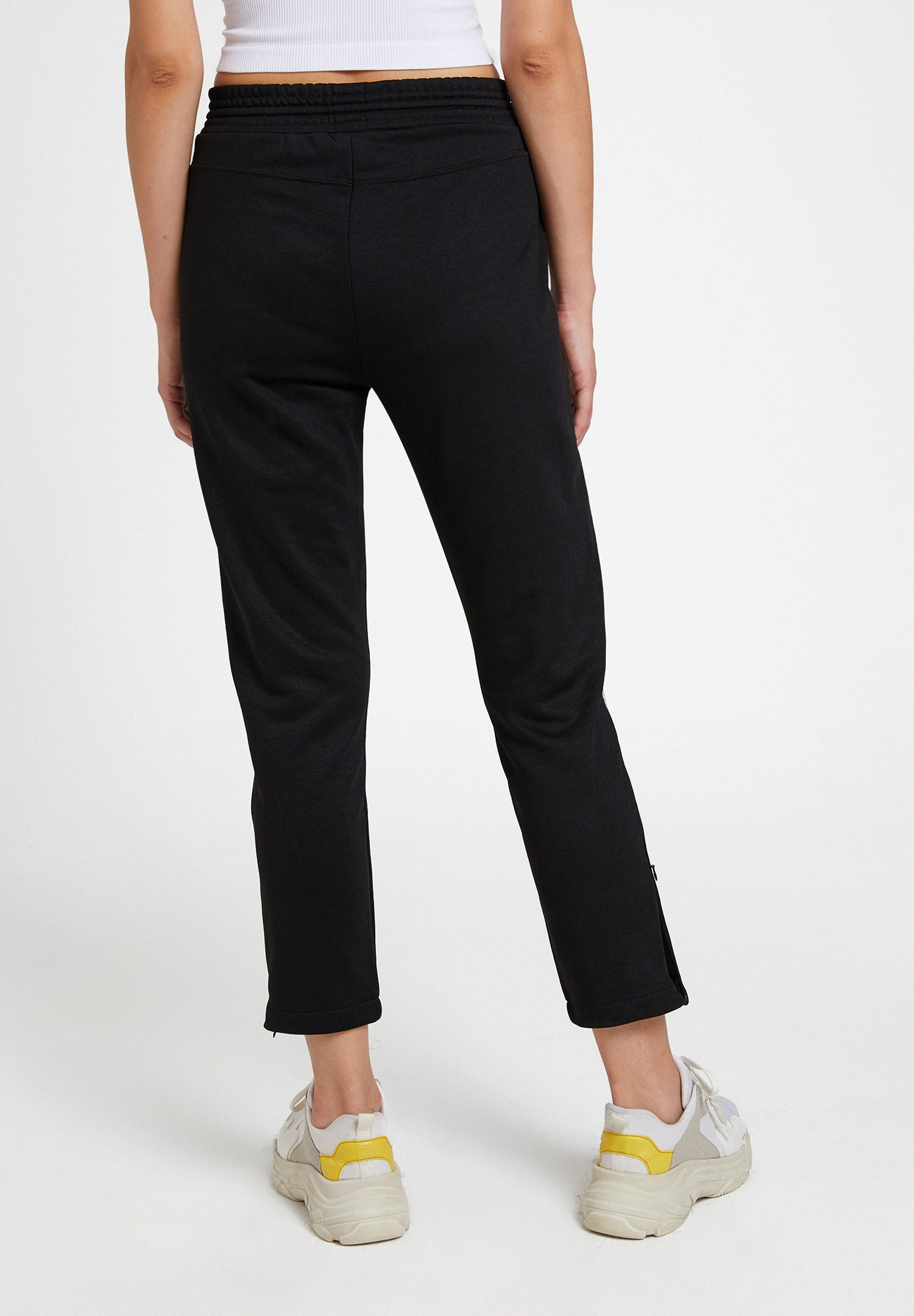 Women Black Jogger with Stripe and Slash