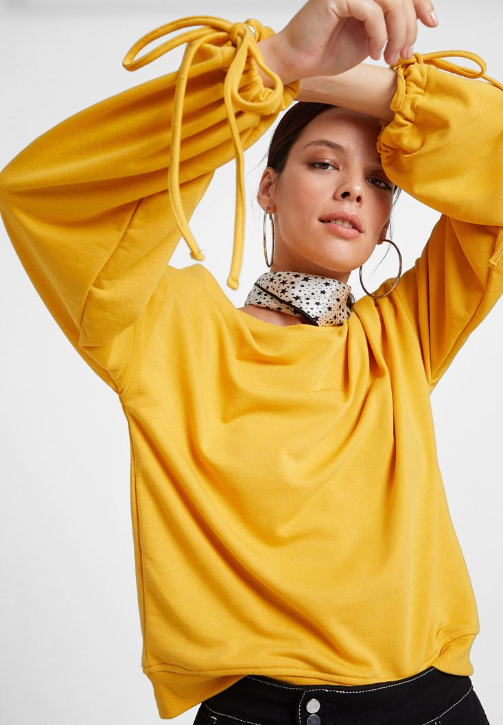 Yellow Sweatshirt with Details