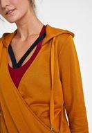 Bayan Sarı Kruvaze Detaylı Sweatshirt