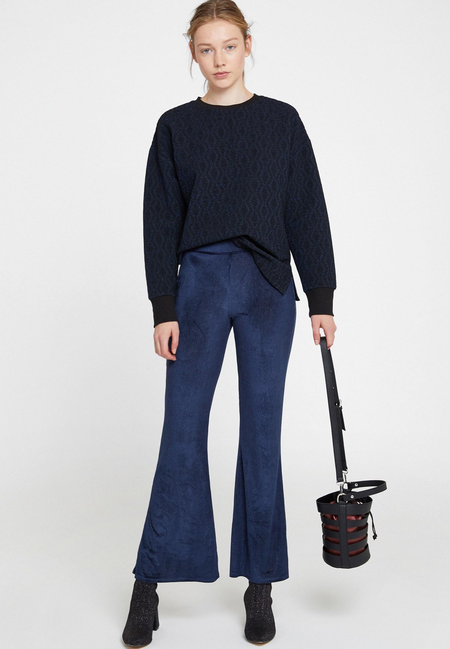 Bayan Çok Renkli Sim Detaylı Sweatshirt