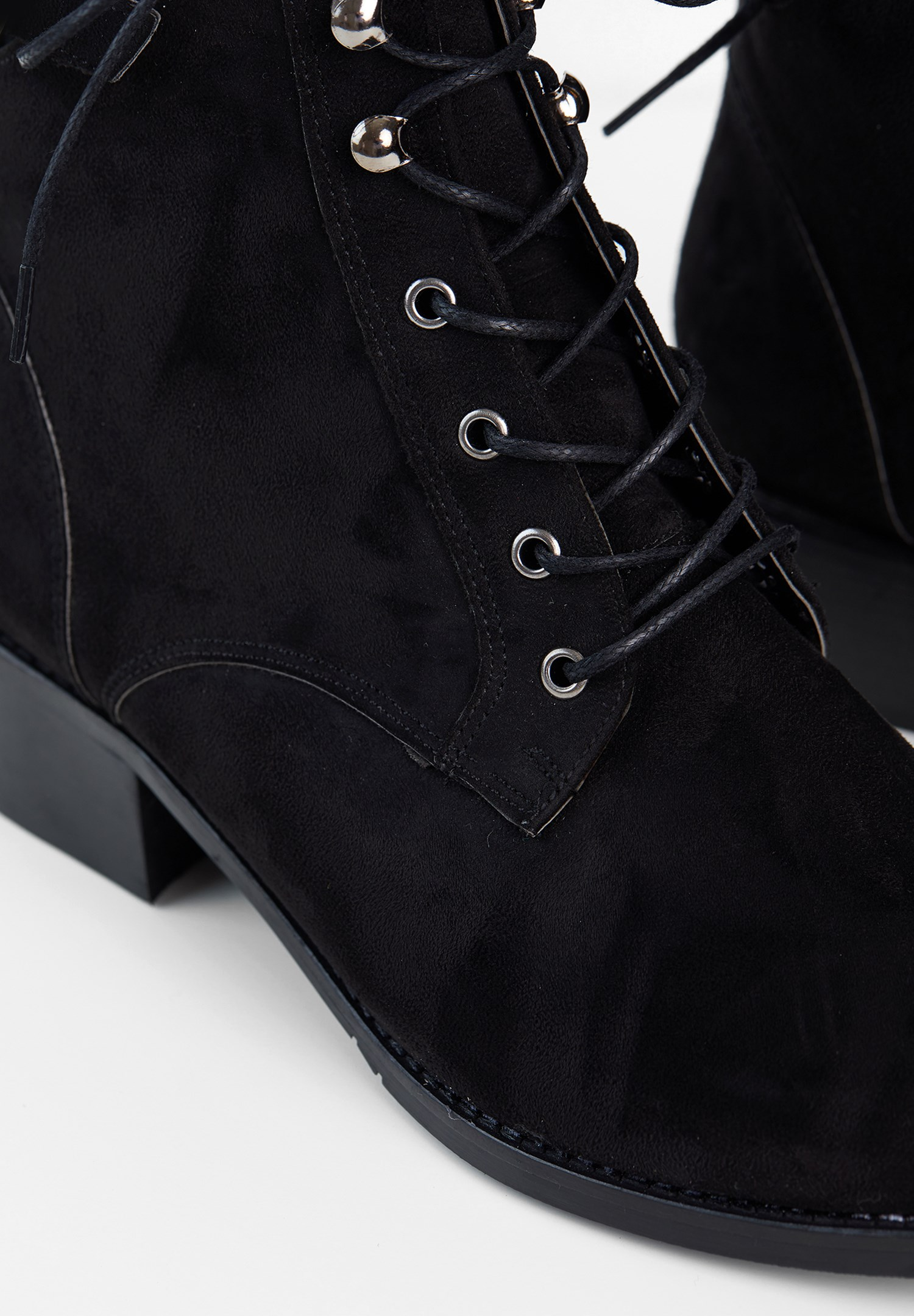 Women Black Boots with Buckle