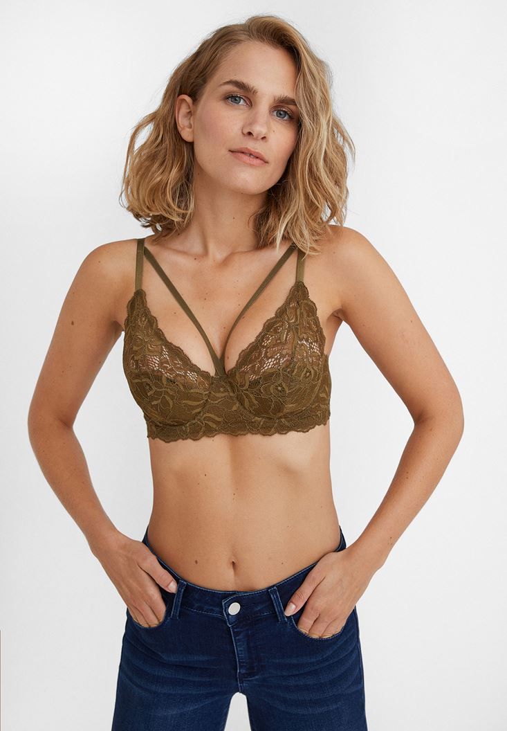 Green Laced Bustier with Details
