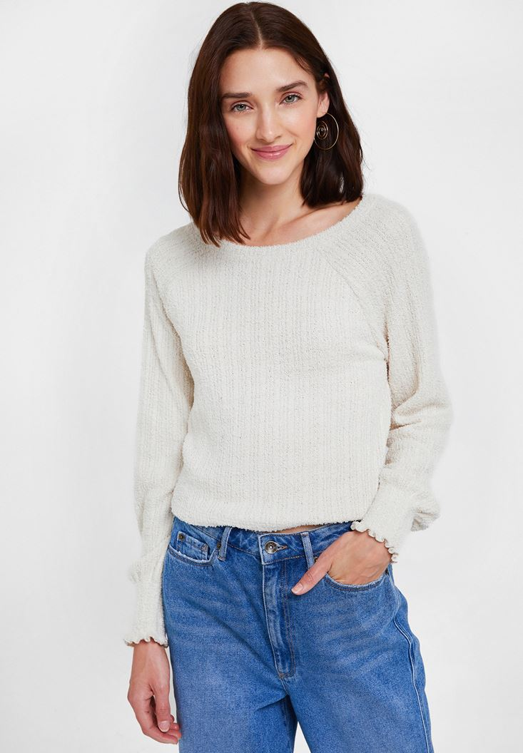 Cream Pullover with Details