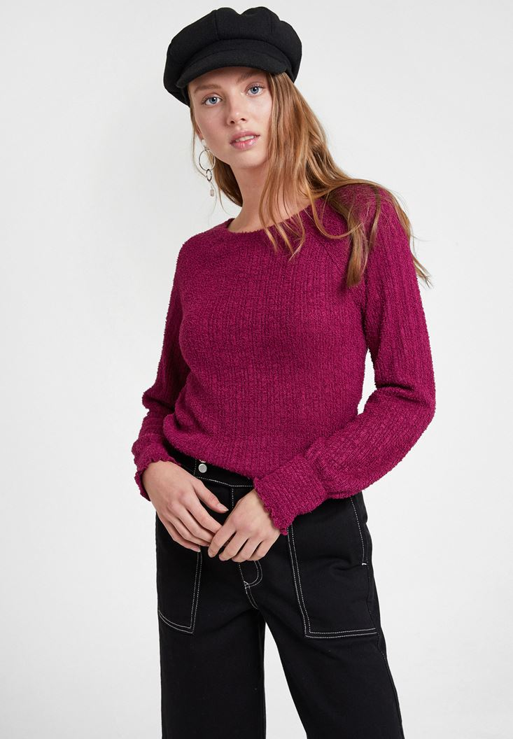 Bordeaux Pullover with Details