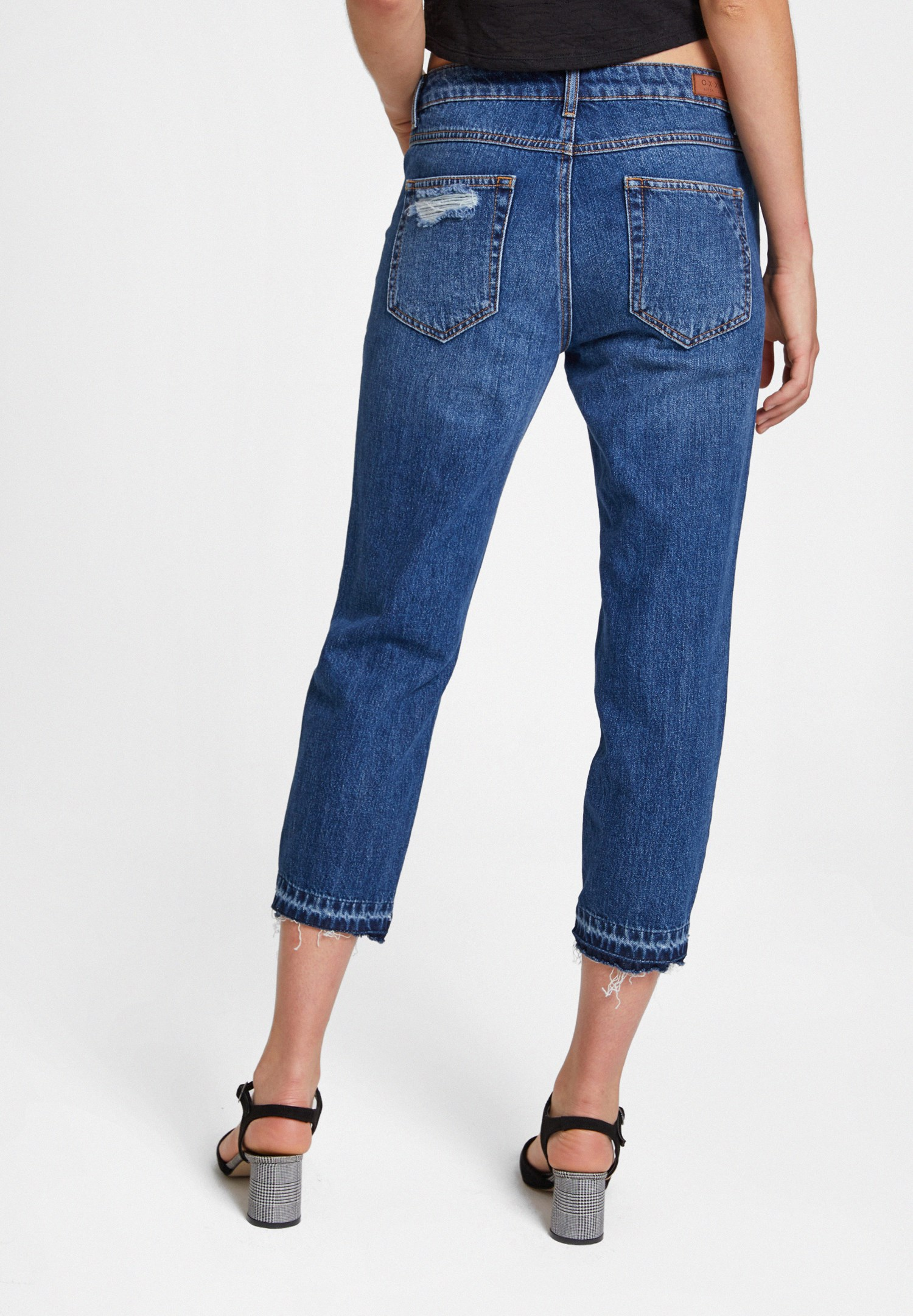 Women Blue Girlfriend Denim Pants