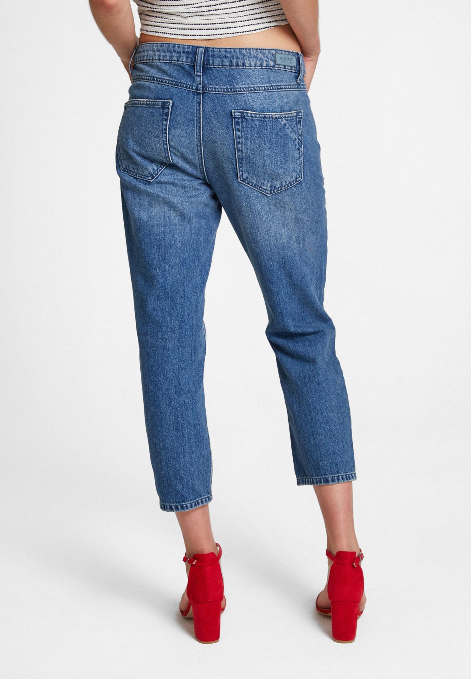 Bayan Mavi Girlfriend Denim Pantolon
