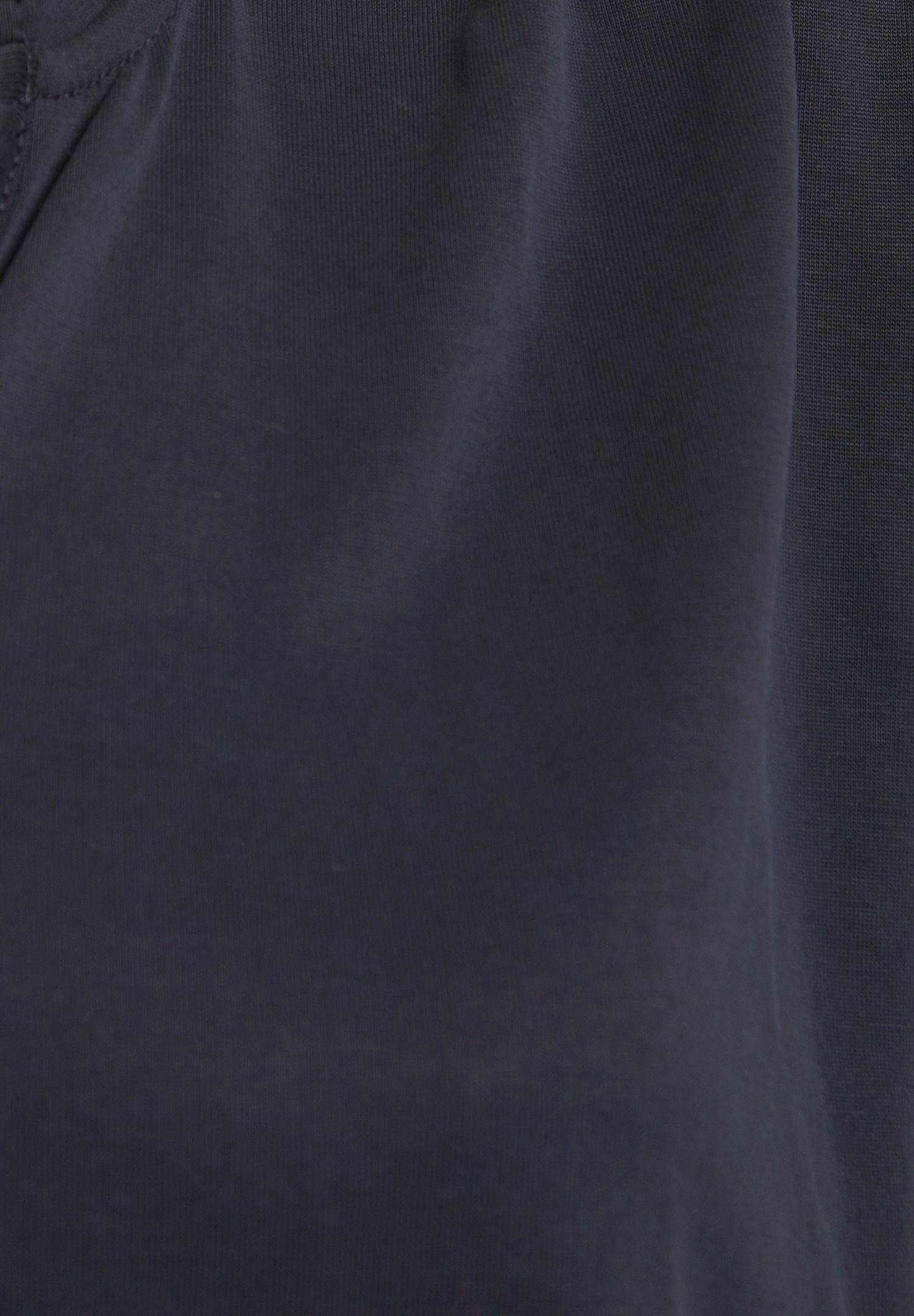 Bayan Siyah Yumuşak Dokulu V Yaka Bluz