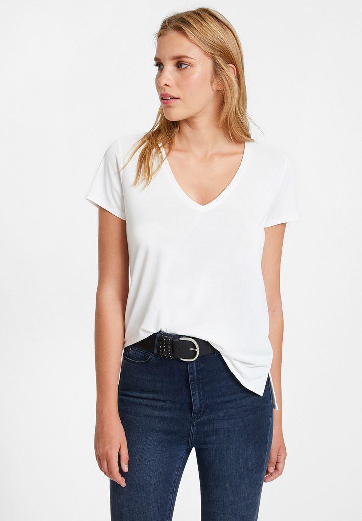 Cream Cupro T-shirt