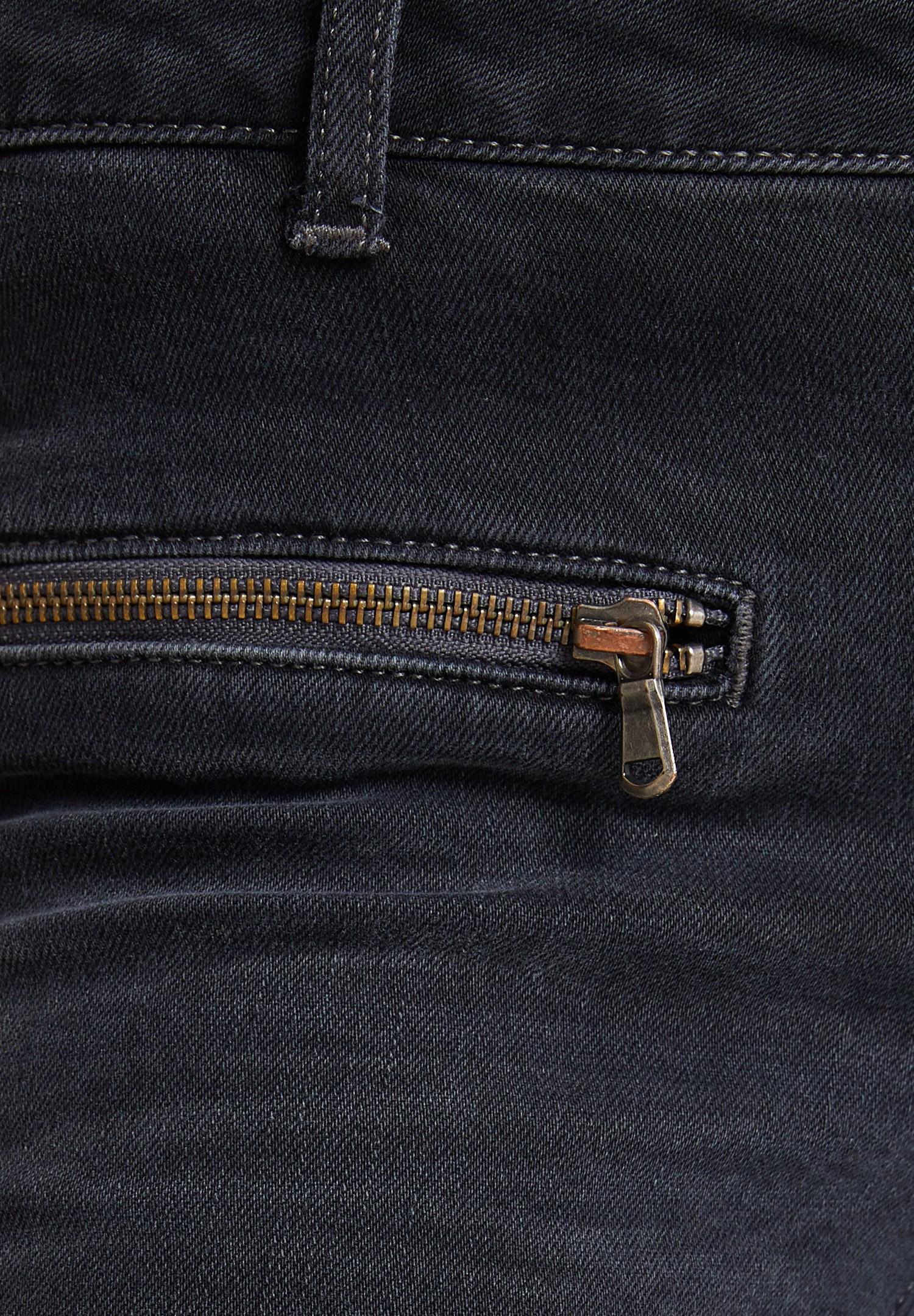 Bayan Gri Fermuar Detaylı Düşük Bel Pantolon
