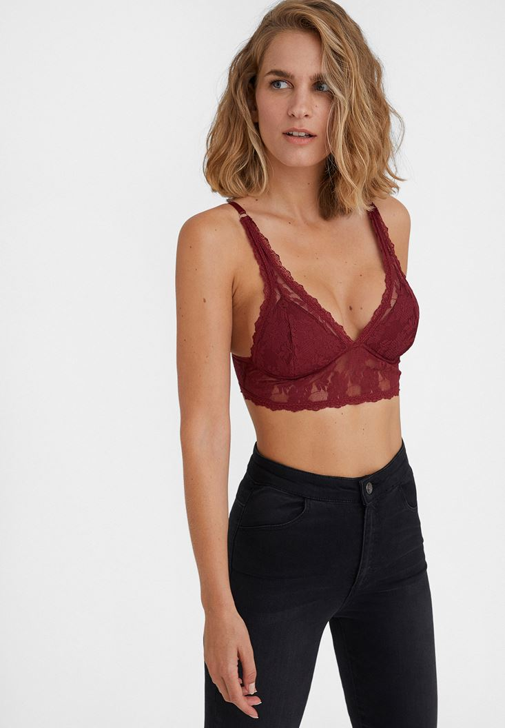 Bordeaux Lace Triangle