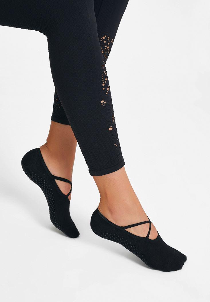 Siyah Yoga Çorabı