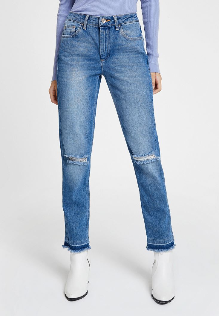 High Rise Denim with Details