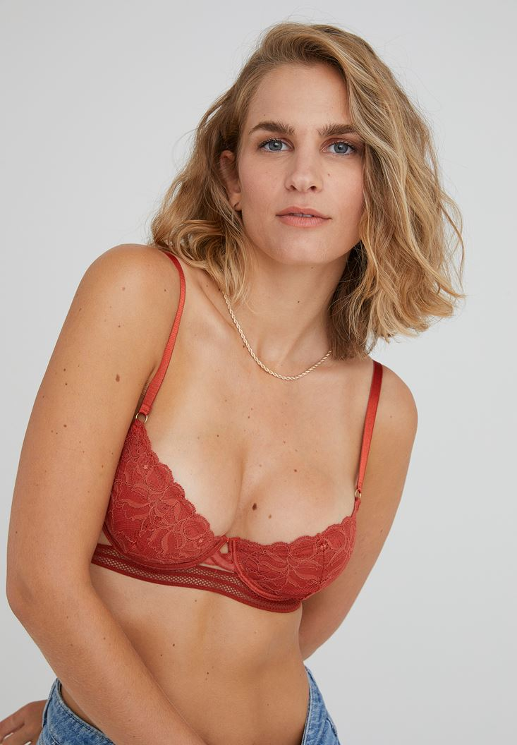 Red Thin Strap Bustier