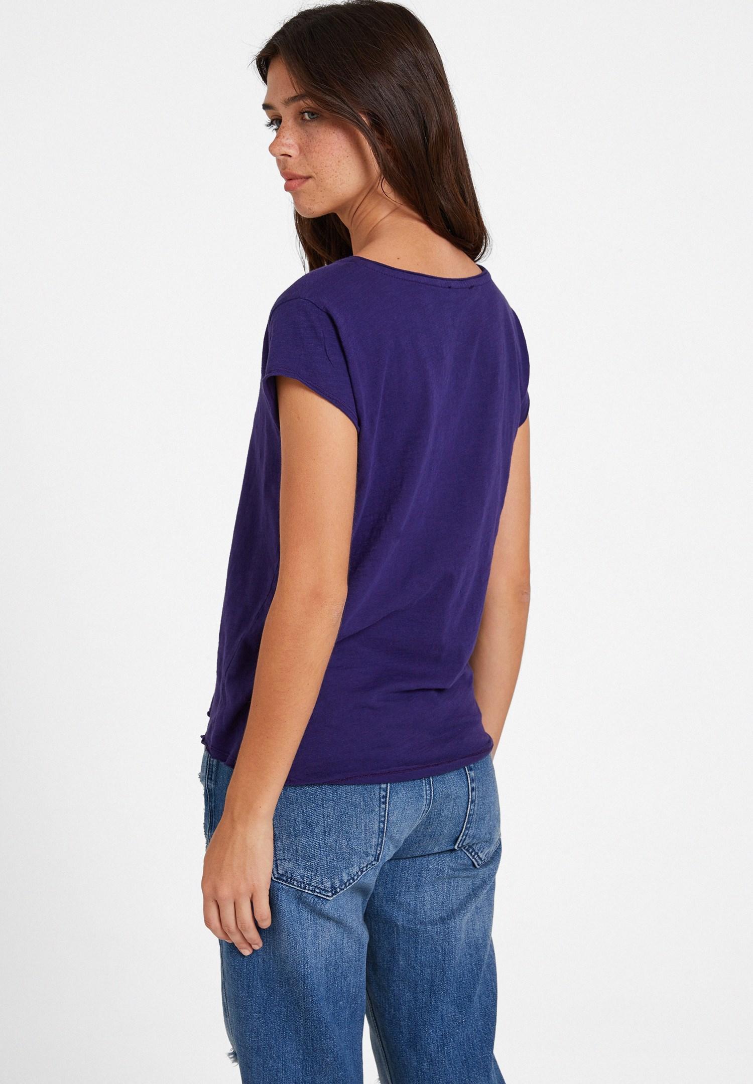 Bayan Mor Basic V Yaka Kısa Kollu Tişört