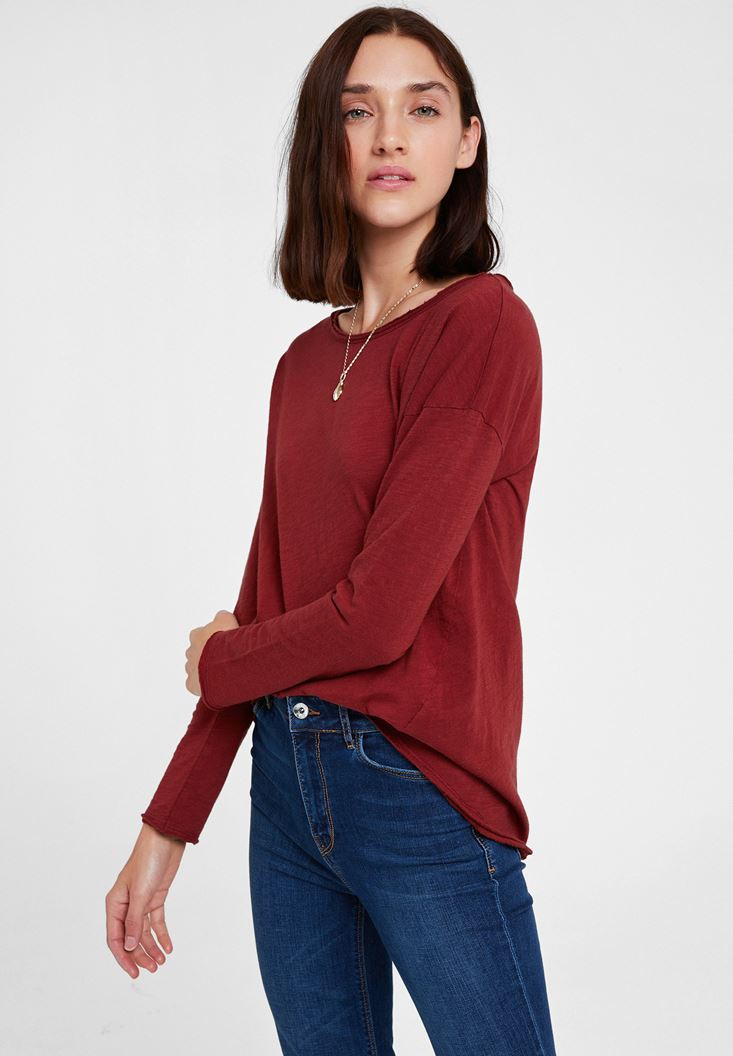 Brown Round Neck T-shirt