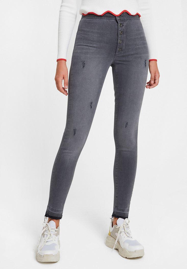 Grey Skinny Denim Jean