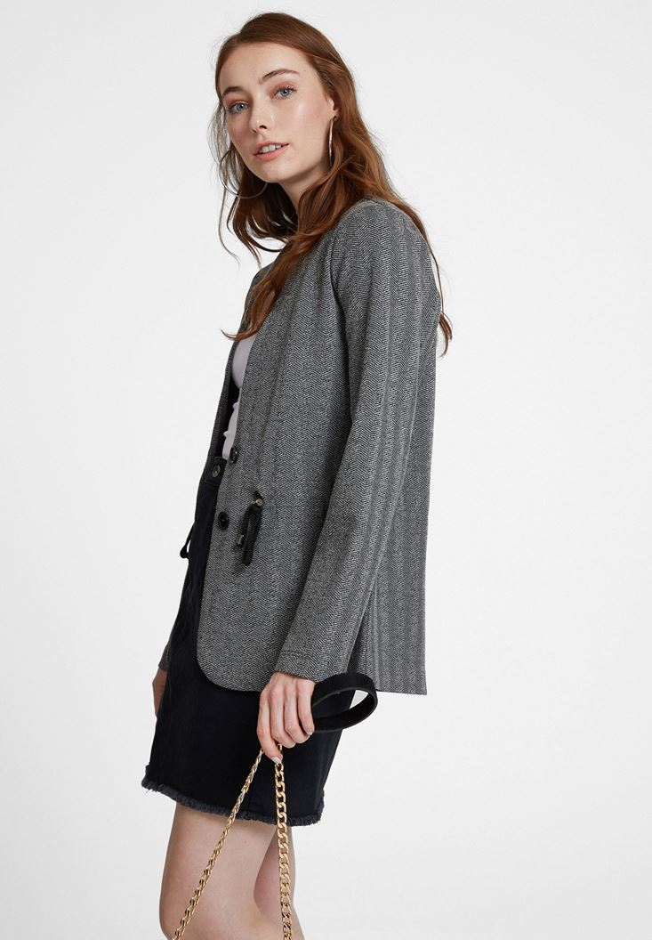 Grey Jacket with Detail